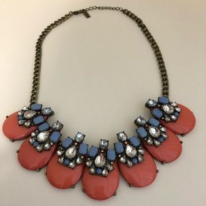 BaubleBar Pink & Periwinkle with Crystals Necklace